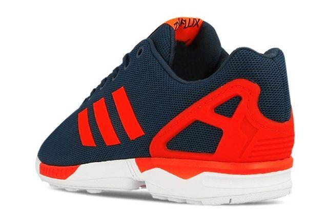 Adidas Originals Zx Flux Dark Blue Solar Red 2