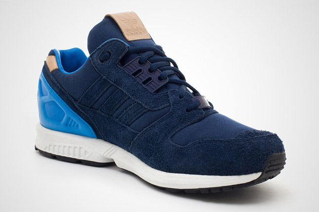 Adidas Zx 8000 Navy Blue Profile Quater 1