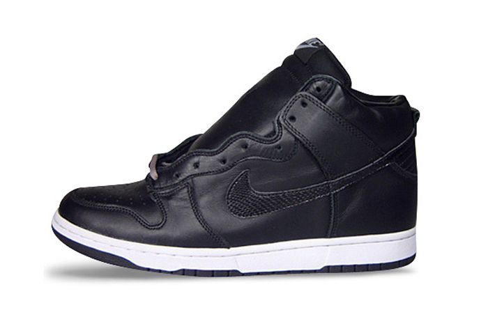 Stussy Nike Dunk High Black Lateral Side
