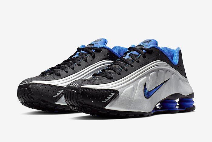 Nike Shox R4 Racer Blue Metallic Silver 104265 047 Three Quarter Angle Shot