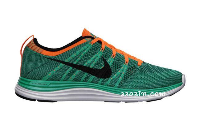 Nike Wmns Flyknit Lunar1 Orange Green 1
