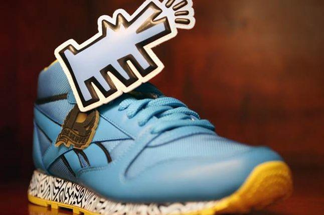 Reebok Keith Haring Bodega Launch Haring Sneaker Blue 1