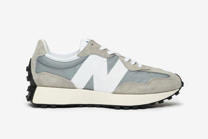 New Balance 327 Grey White Lateral