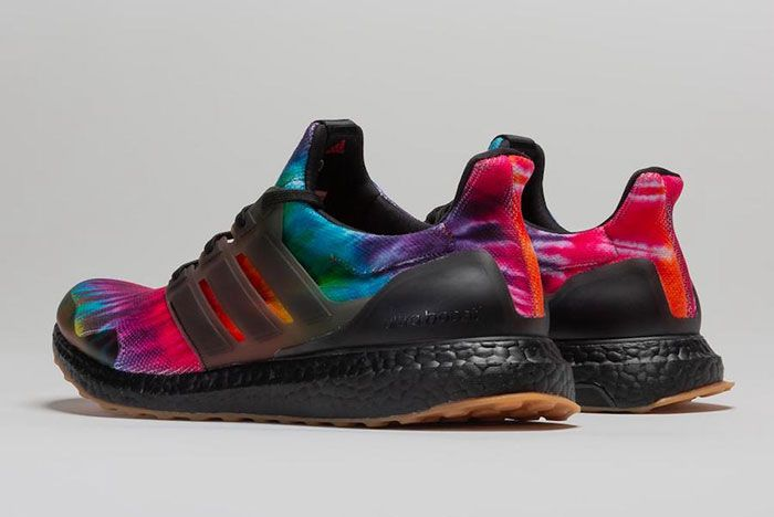Nice Kicks Adidas Ultra Boost Woodstock Tie Dye Fu9164 Three Quarter Heel Shot