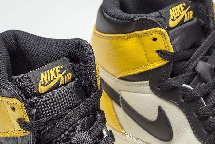Air Jordan 1 Yellow Toe Tongue