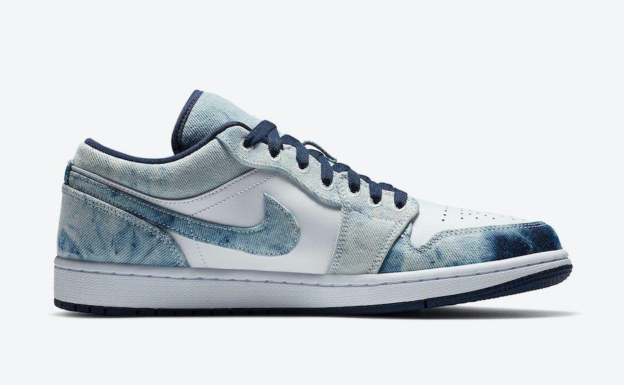 Air Jordan 1 Low Washed Denim Right