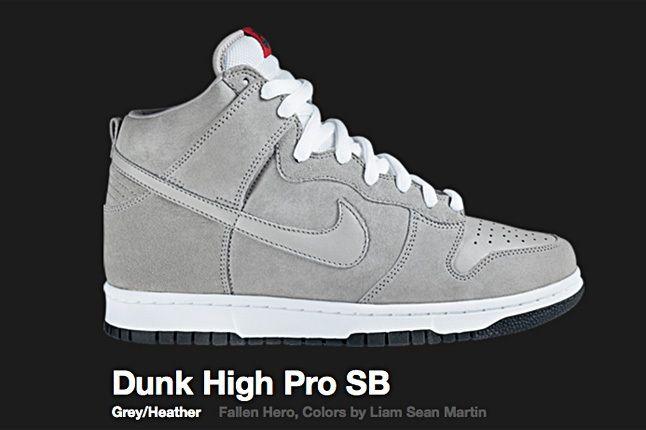 Nike Fallen Hero Grey Dunk High Pro Sb 2007 1