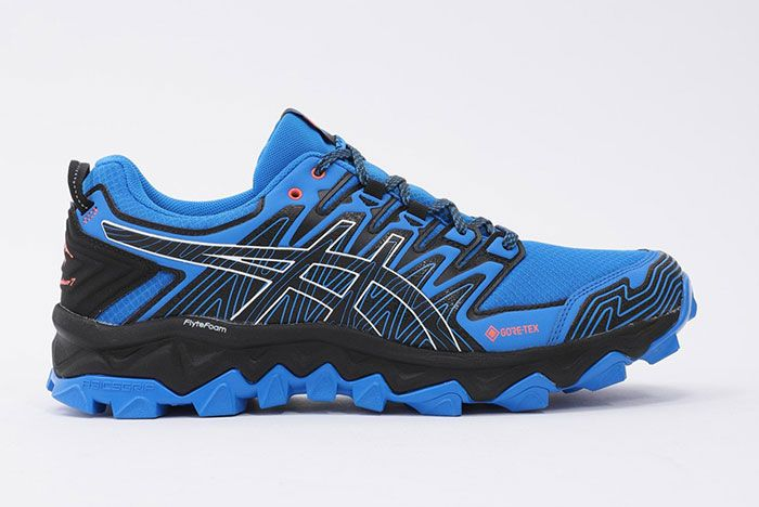 Asics Gel Fujitrabuco 7 Gtx Blue Lateral Right