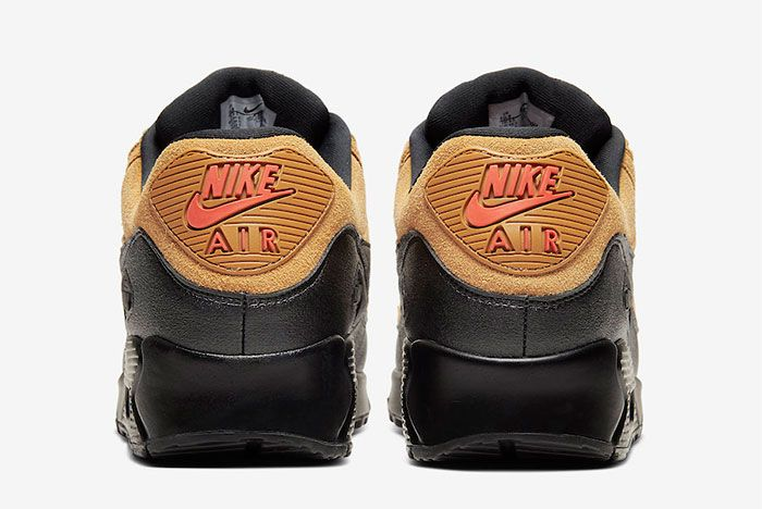 Nike Air Max 90 Wheat Suede Heel
