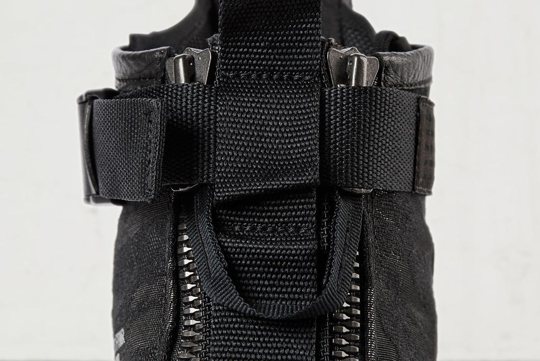 Nike Sf Air Force 1 Mid Black6