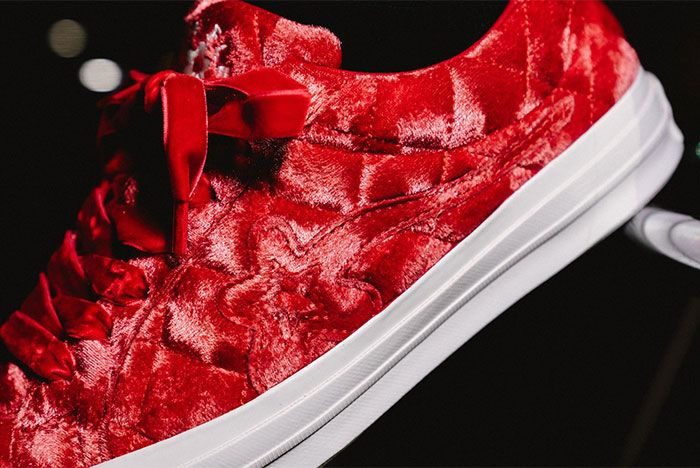 Golf Le Fleur Converse All Star Quilted Red Close Left View