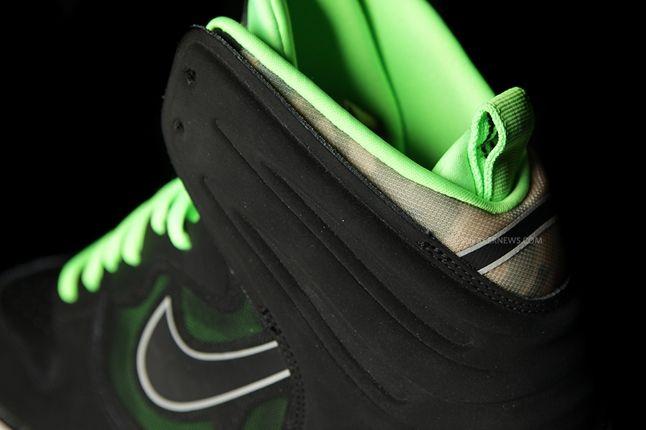 Nike Dunk High Free Black Green Heel Detail 1
