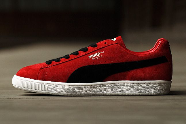Puma Suede Made In Japan Red Profile 1