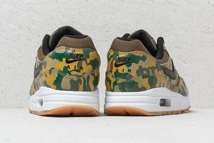 Nike Air Max 1 Print Gs Medium Olive Black 4