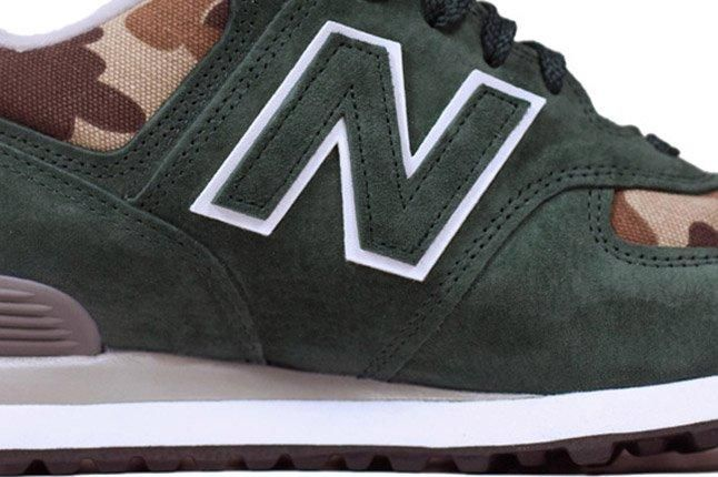 Ball And Buck New Balance Us574 Mountain Green Lateral 1