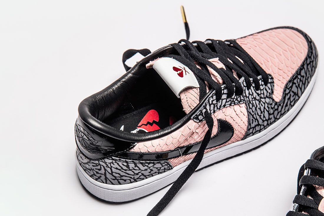 Shoe Surgeon Aj1 Low Sb Heart Breaker Rear Angle