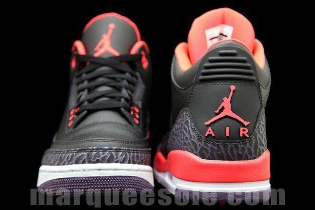 Air Jordan 3 Bright Crimsom Heel Toe 1