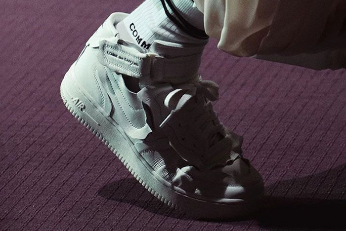 Comme Des Garcons Nike Air Force 1 Mid Release Date Leak