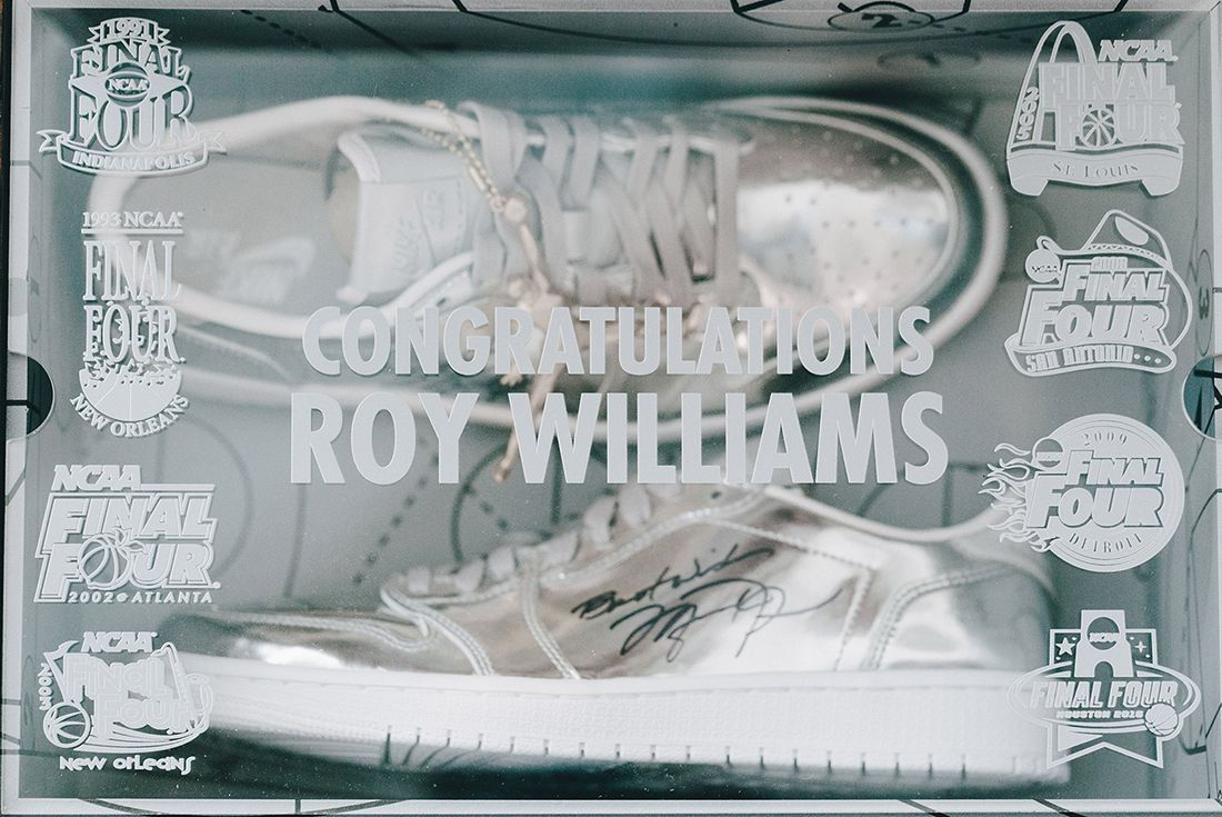 Jordan Brand Gift Unc Coach Roy Williams With A Special Pair Of Jays