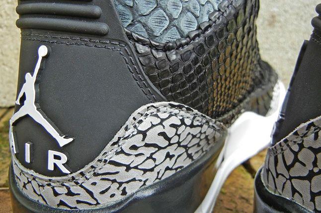 Jbf Customs Aj3 Incomparable Black Python Hee Detail 1