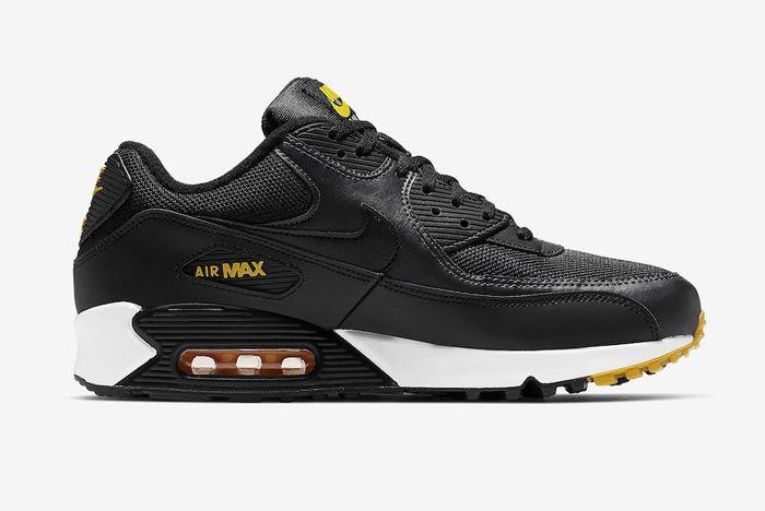 Nike Air Max 90 Black Yellow White Medial