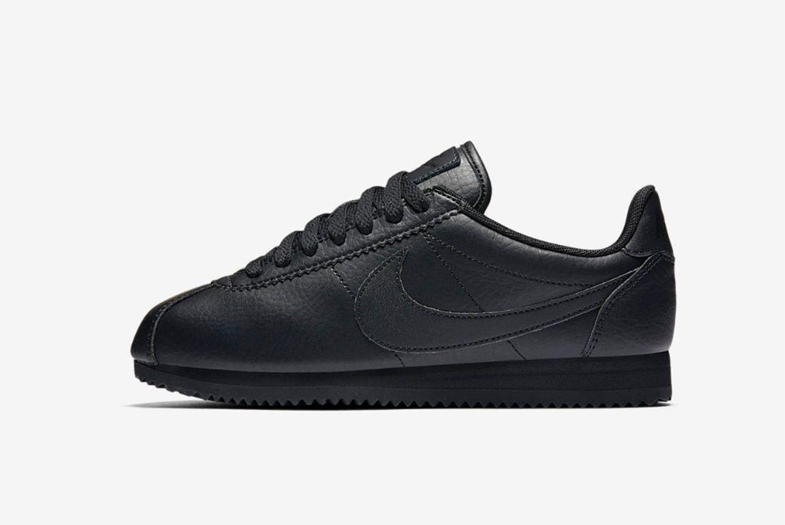 Nike Cortez Premium Womens Beautiful Powerful Black 3