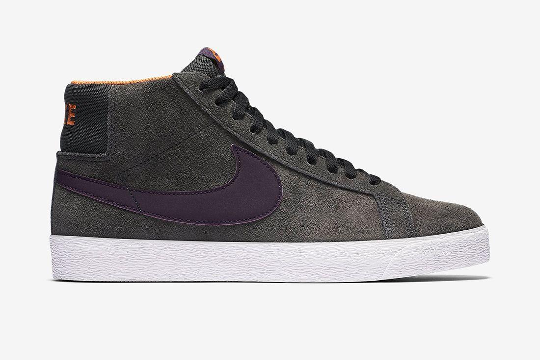Nike Sb Zoom Blazer Premium Anthracite Purple Dynasty