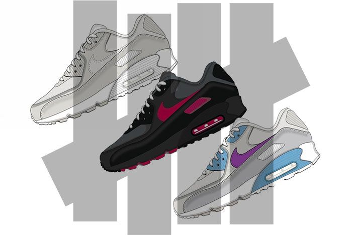 Undefeated Nike Air Max 90 2020 Collection Release Date Mock