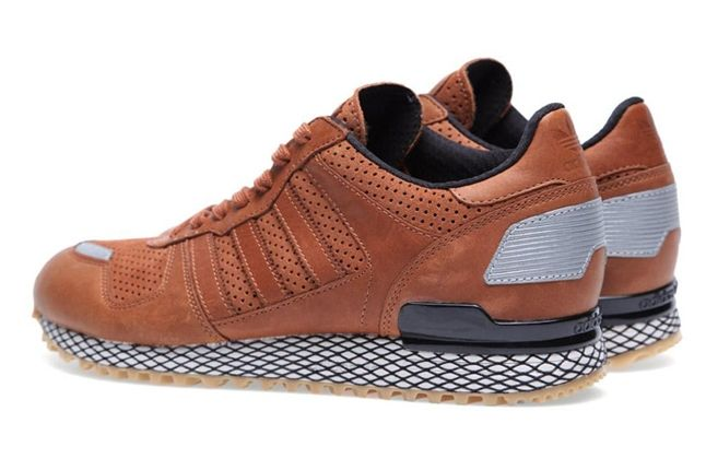 Adidas Originals Zx 700 Gum And Perf Pack Brown Back Angle 1