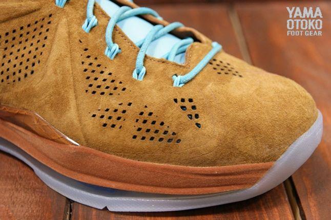 Nike Lebron X Brown Suede Toebox 1