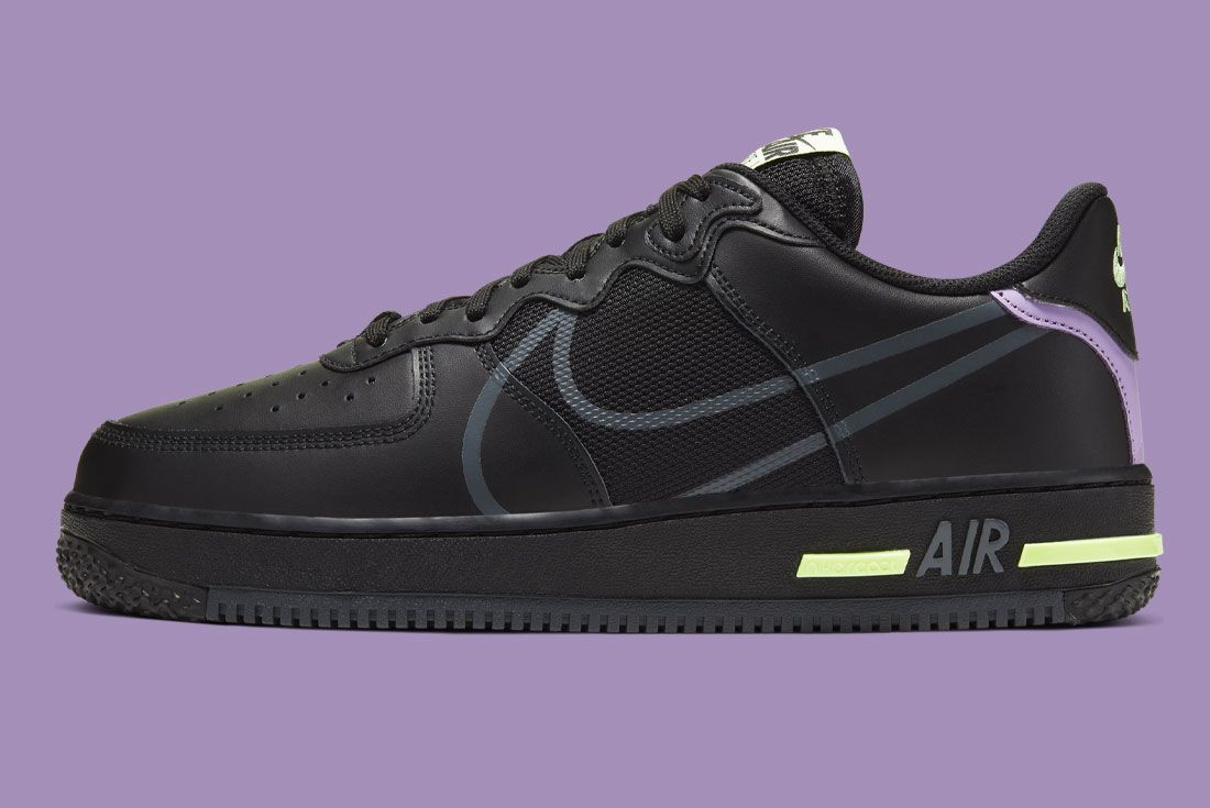 Nike Air Force 1 React Cd4366 001 Lateral