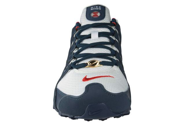 Nike Shox Nz Gold Front View 1