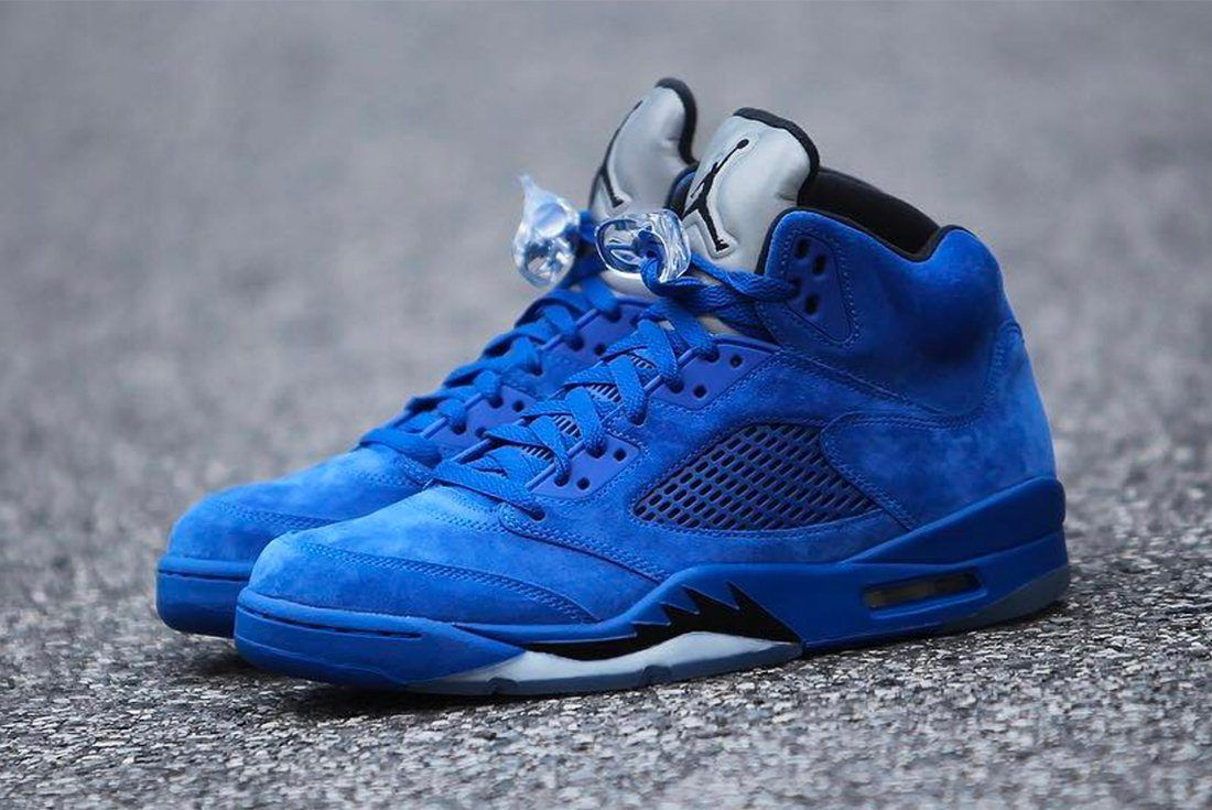 Air Jordan 5 Blue Suede 12