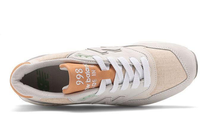 New Balance 998 White Tan Top