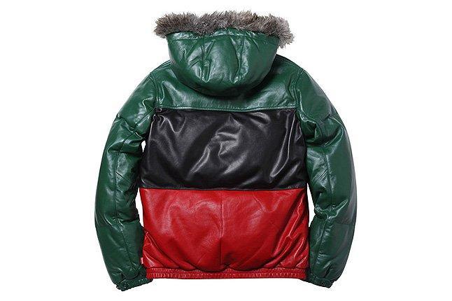 Leather Jacket Wool Hood 1