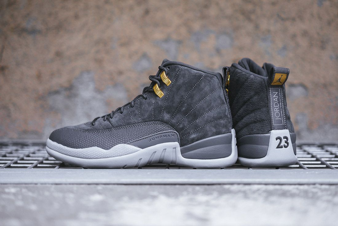 On Foot Air Jordan 12 Dark Grey