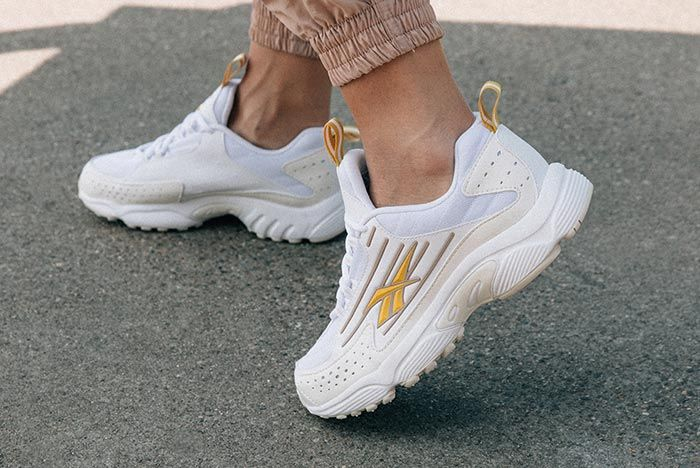 Reebok Dmx Series 2K Gold Left Angle