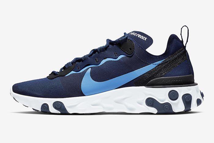 Nike React Element 55 Carolina Blue 1