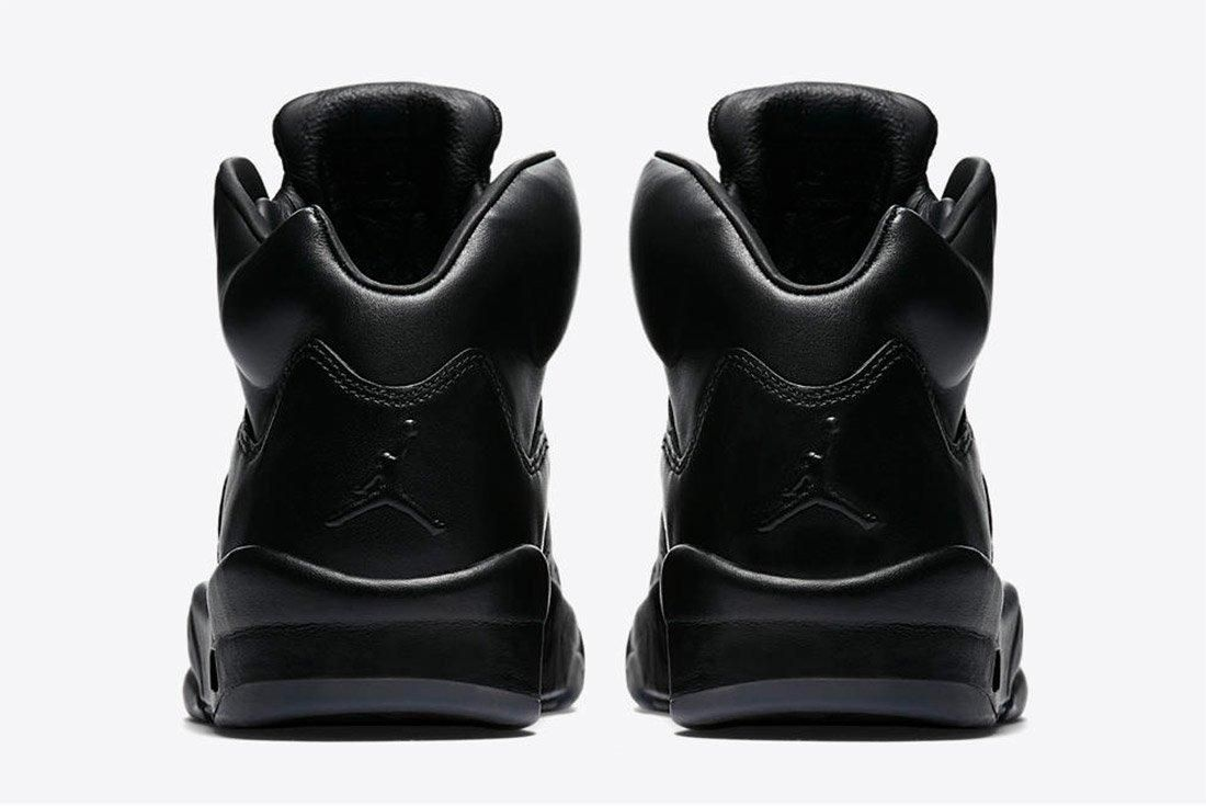Air Jordan 5 Premium Triple Black Leather 3