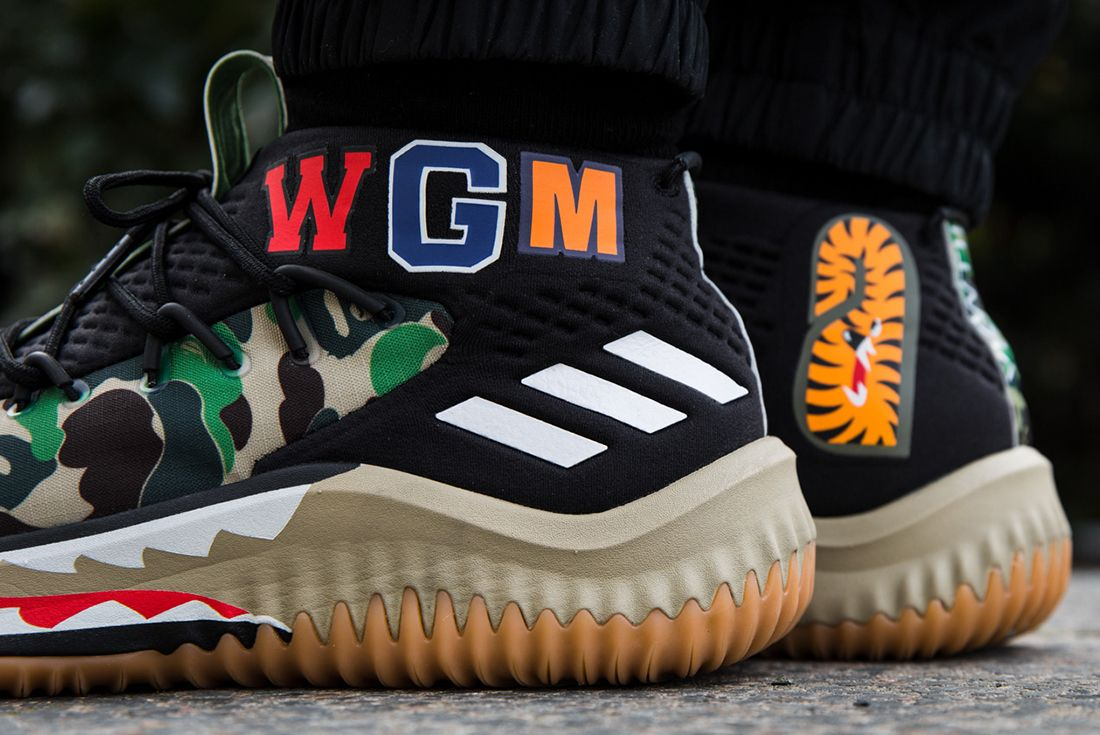 Bape X Adidas Dame 4 On Feet 3