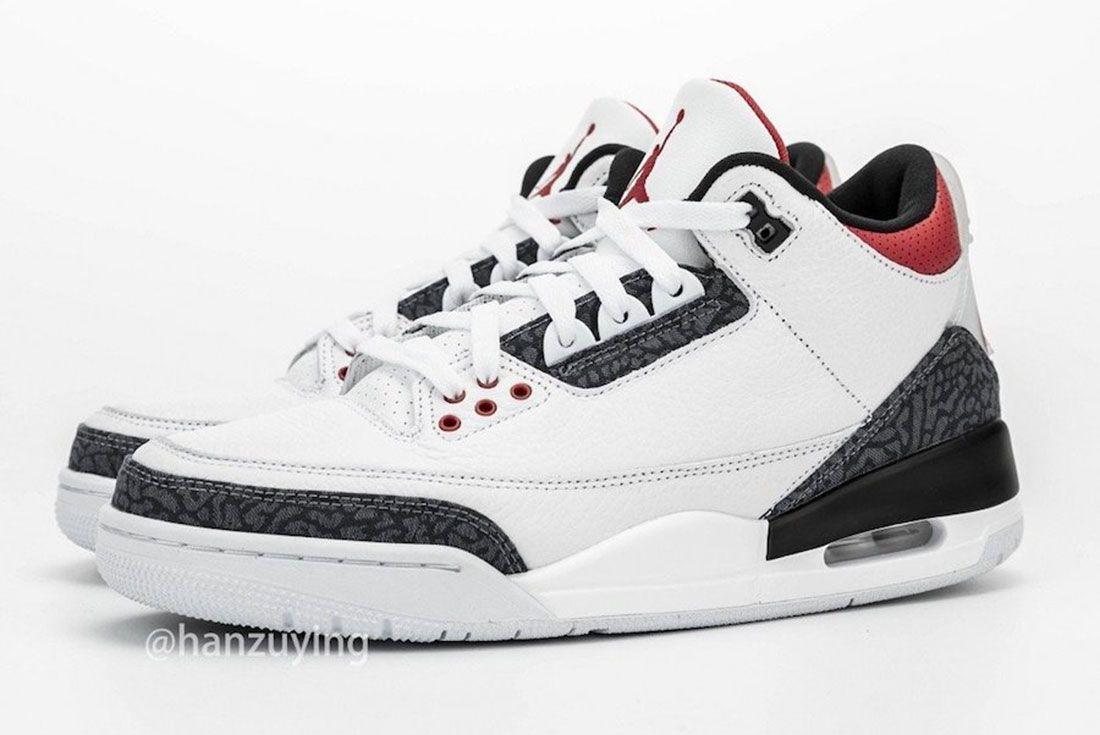 Air Jordan 3 Fire Red Denim