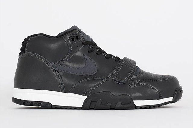 Nike Air Trainer 1 Mid Anthracite Black Leather 1