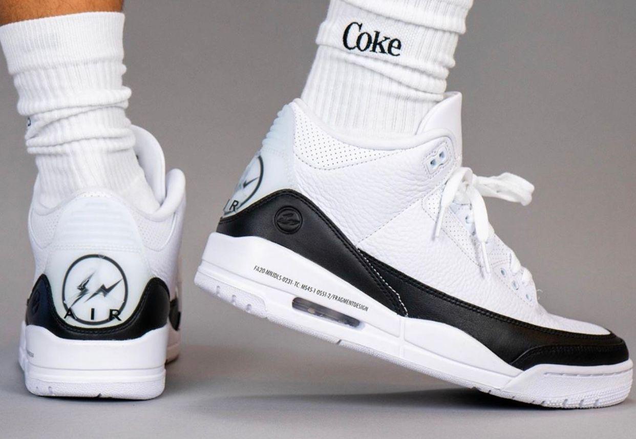 Fragment Air Jordan 3 On Foot