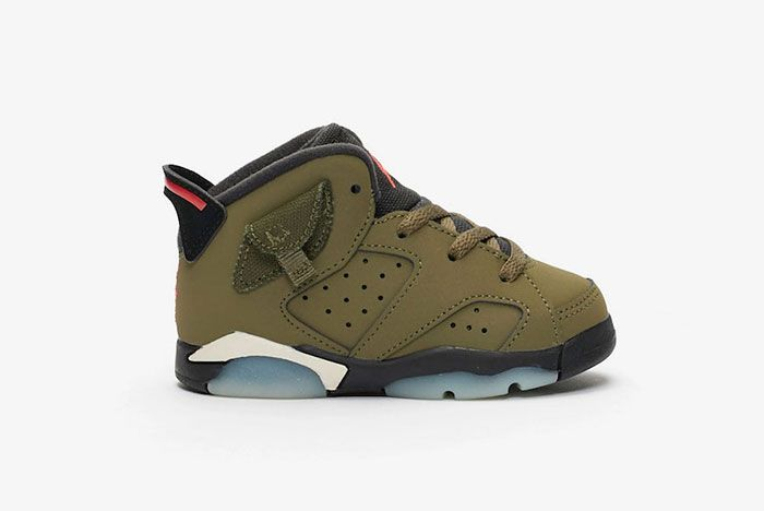 Travis Scott Air Jordan 6 Medium Olive Right
