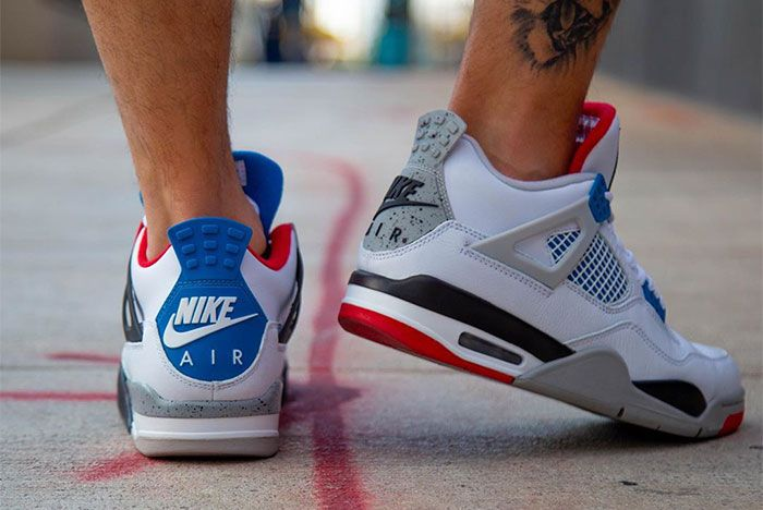 Air Jordan 4 What The On Foot Heel