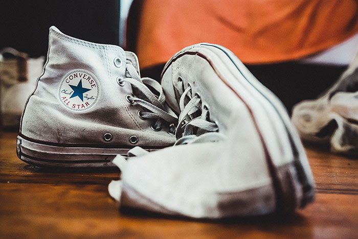 Converse Chuck Taylor White Beat Up