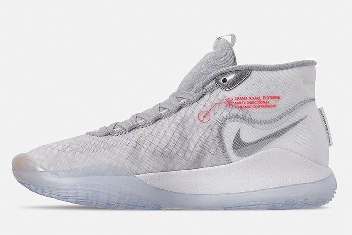 Nike Kd 12 Wolf Grey Ar4229 101 Medial