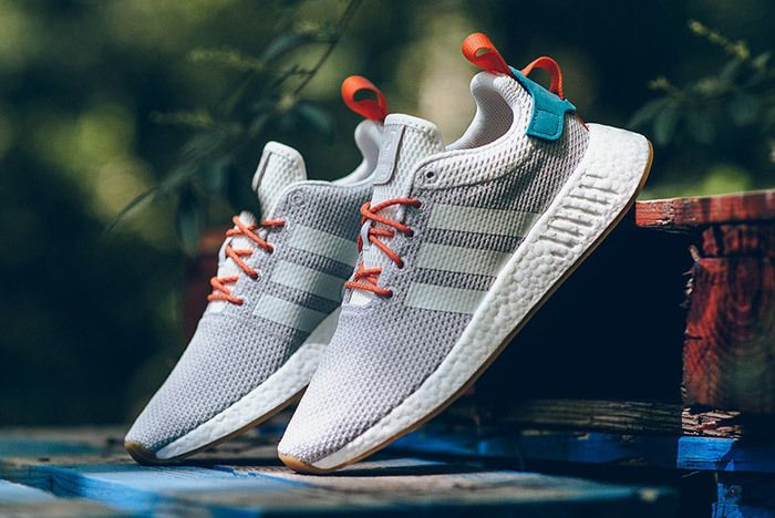 Adidas Nmd R2 Crystal White Orange Green 5