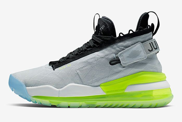Jordan Proto Max 720 Silver Blue Green Lateral Side Shot
