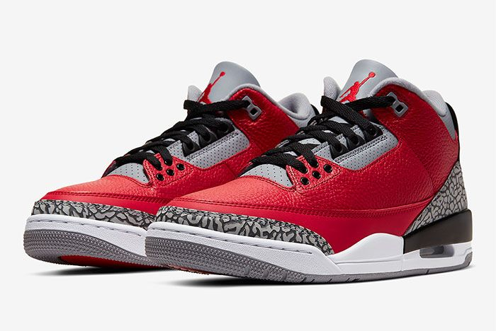 Air Jordan 3 Chi Cu2277 600 Three Quarter Lateral Side Shot